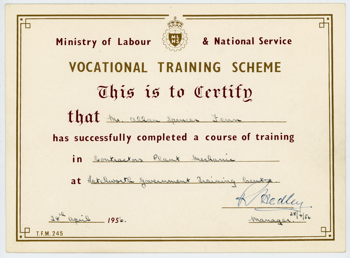 Vocational Certificate : Katinabags.com